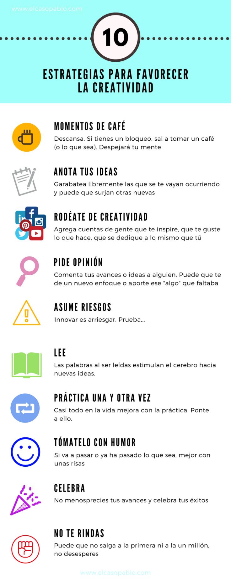 10 Estrategias para favorecer la creatividad
