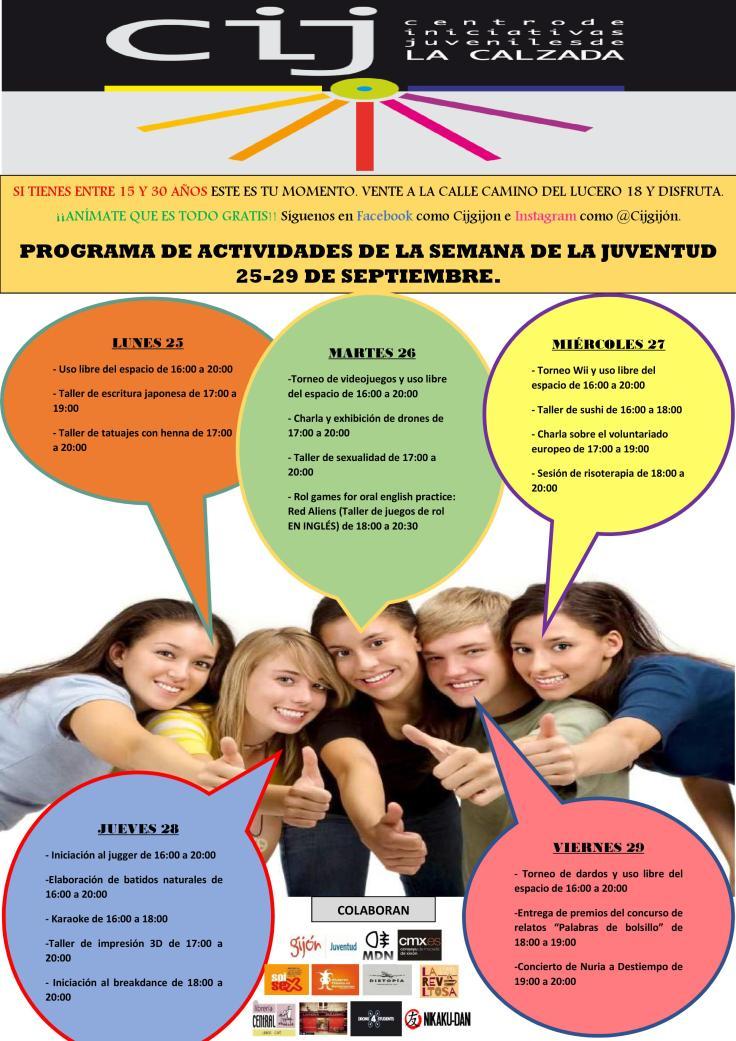cartel de la programacion semana de la juventud FINAL