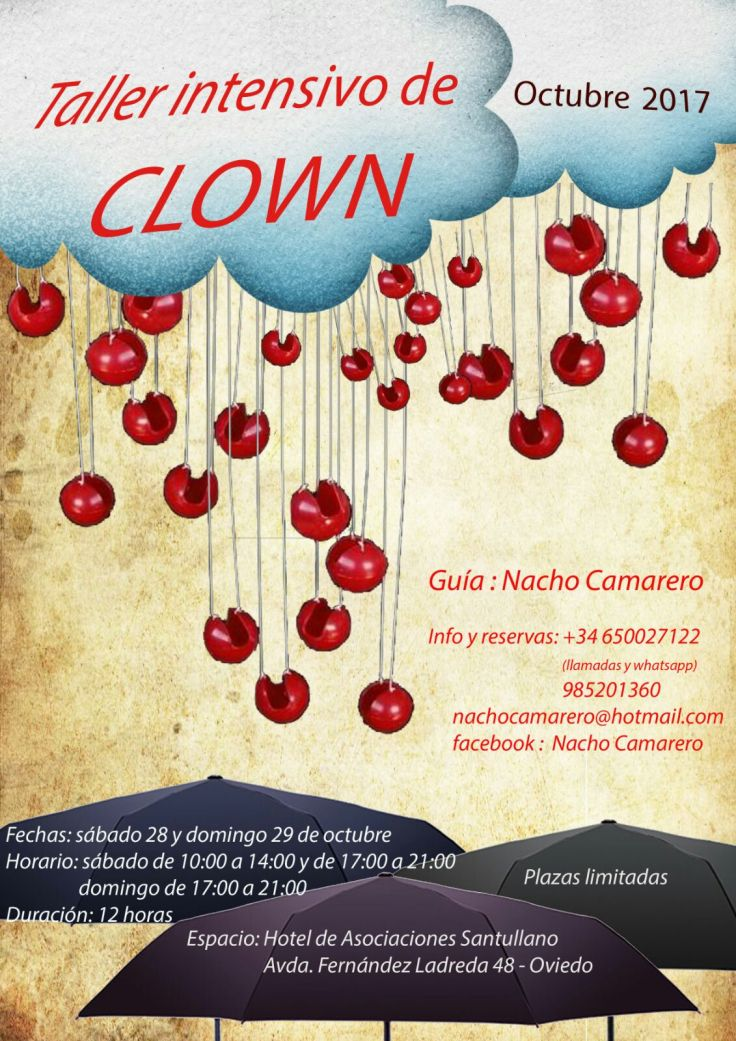 taller intensivo de clown