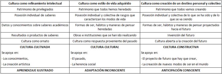 Diferentes visiones de la cultura